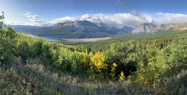 Glacier National Park East side panoramic photo