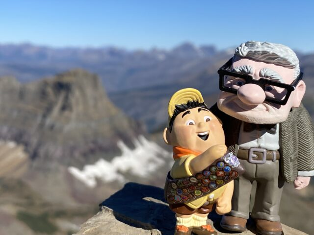 Disney UP toys on a mountain