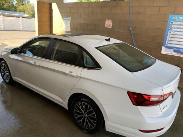 rental car at car wash