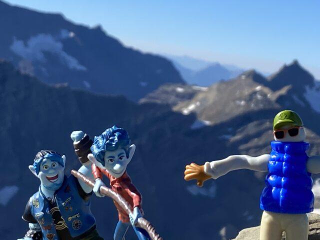 Pixar Onward characters in mountains