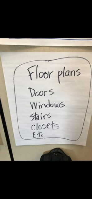 Notes on a flip chart page