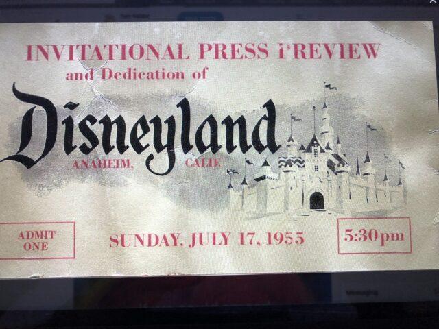 Disneyland opening day pass