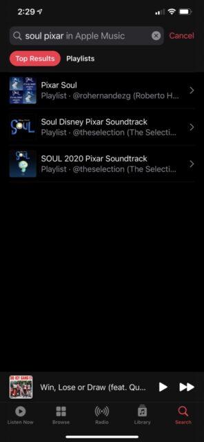 Disney movie soundtracks on iTunes