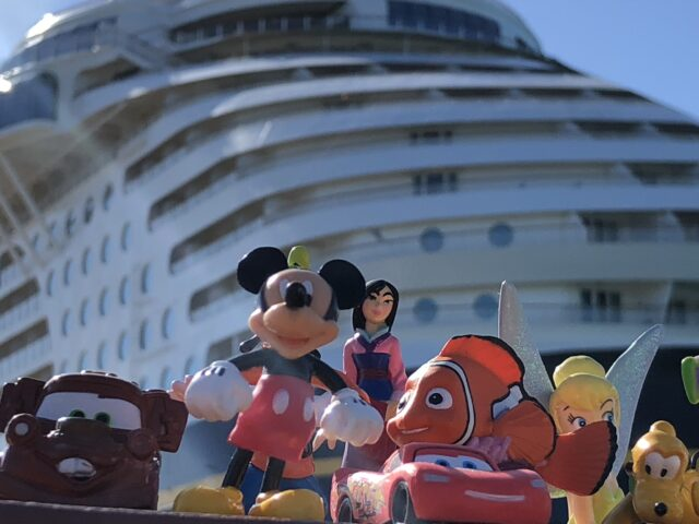 Disney cruise ship and Disney toy characters