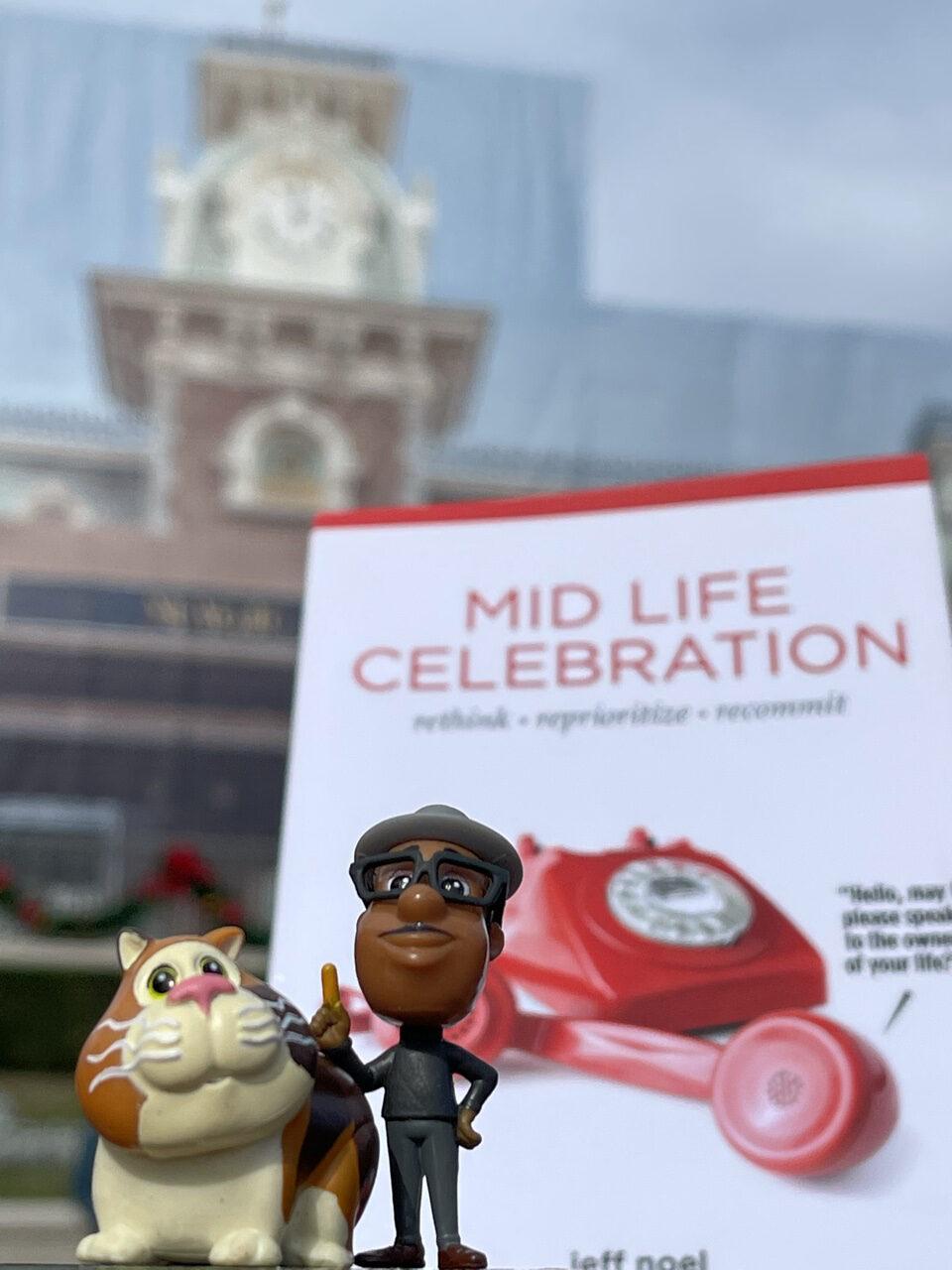 Midlife celebration book with Disney Soul toys