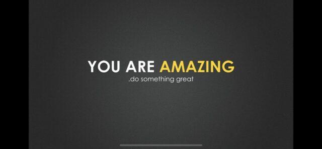 You are amazing speech slide