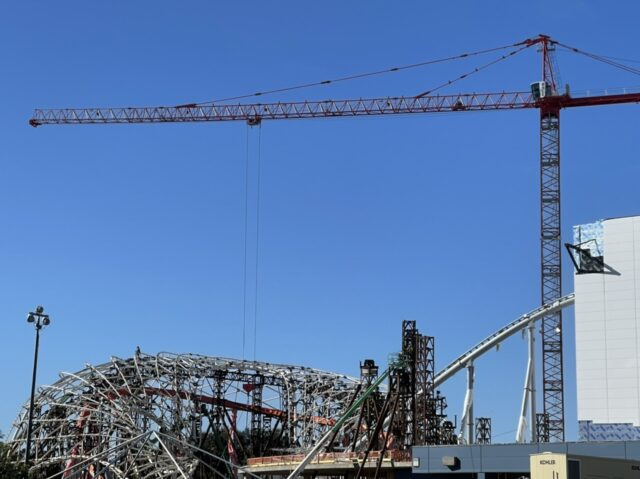 Disney Tron attraction under construction