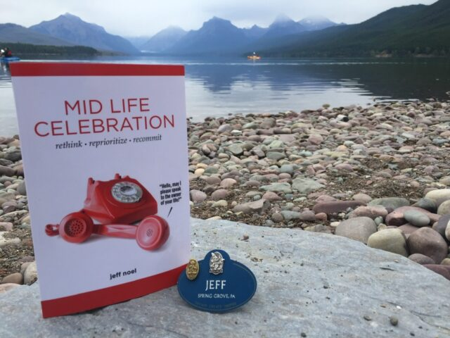 book mid Life Celebration by a lake