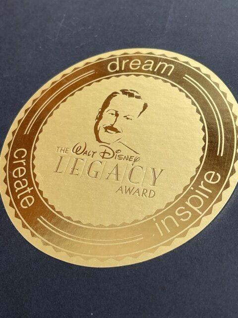 Walt Disney Legacy award emblem