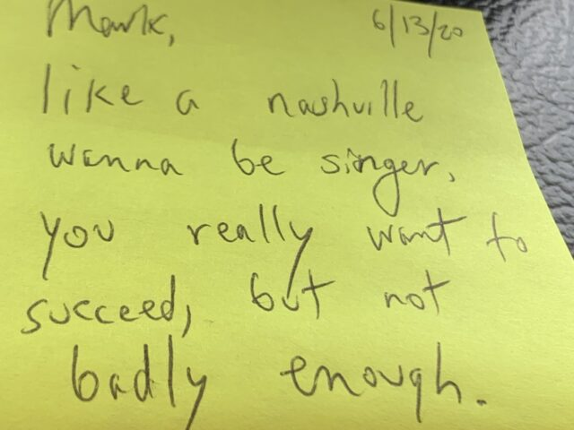 note on post it note