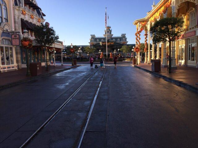 Main Street Magic Kingdom before Park opening