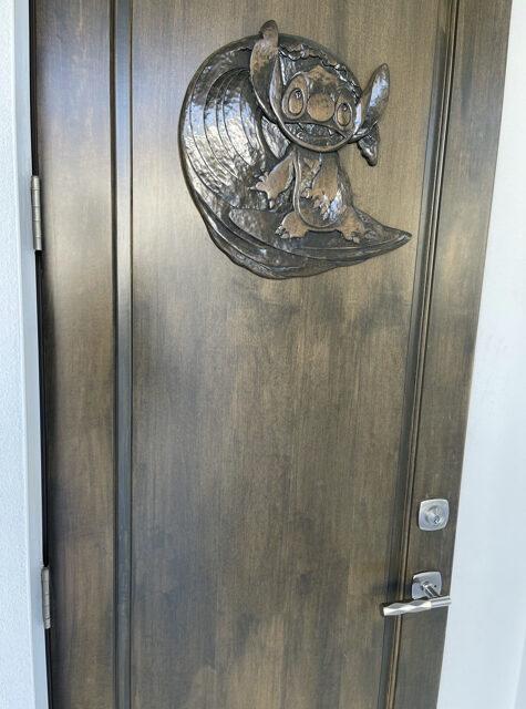 door with Stitch design