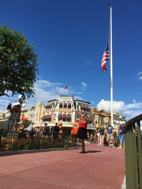 Magic Kingdom Flag lowering ceremony