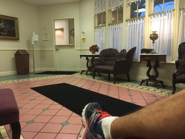Magic Kingdom first aid station lobby