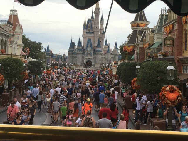 Magic Kingdom Main Street and Castle view from bus