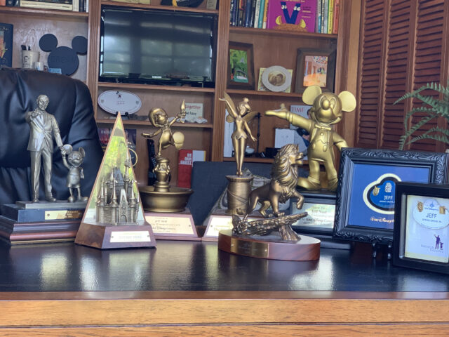 Disney Cast Service Award trophies