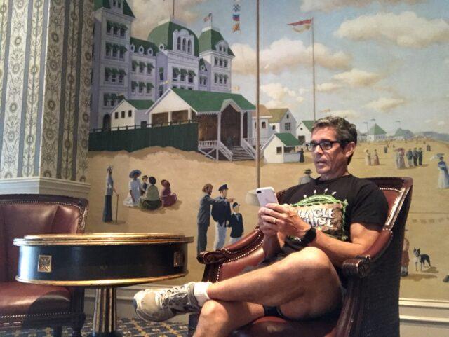 disney speaker Jeff Noel sitting on chair at Disney Resort