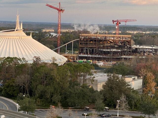 Tron attraction under construction