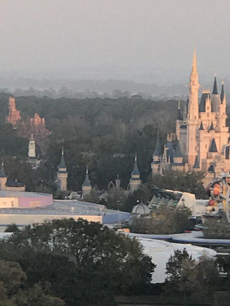 Ariel view of Cinderella Castle