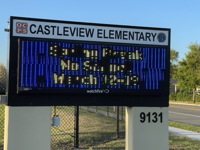Castleview Elementary School sign