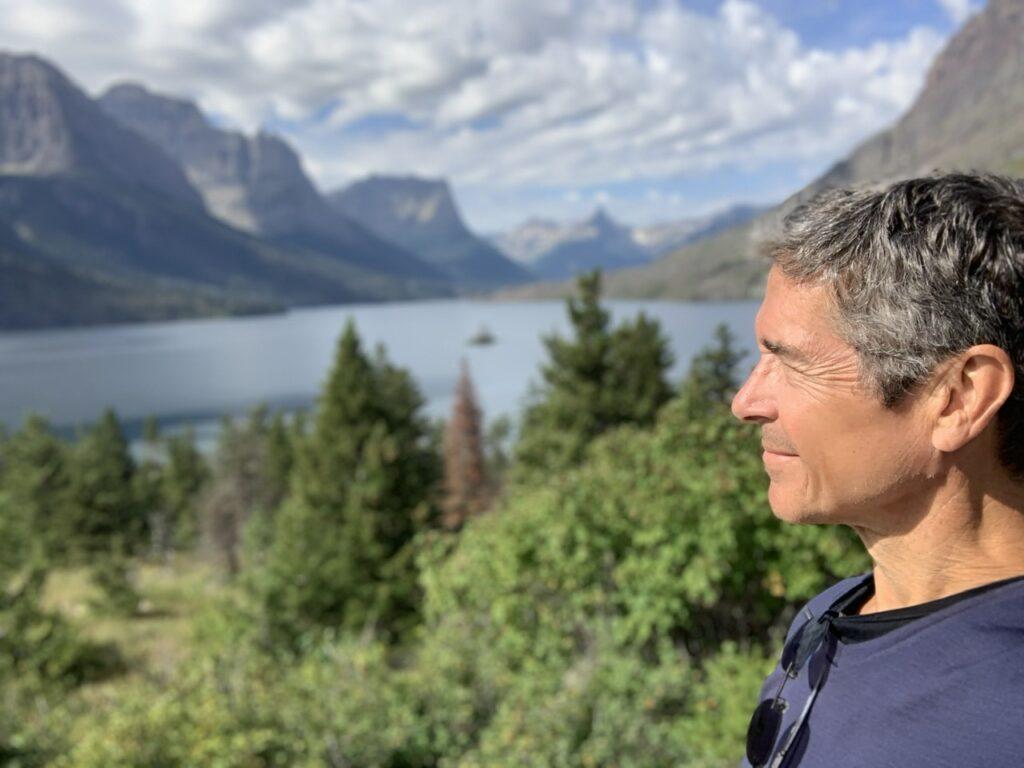 Disney speaker Jeff Noel in the mountains